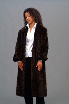 Vintage Black Fox Sectional Coat