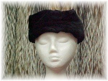 Black Sectional Sheared Mink Fur Head Wrap