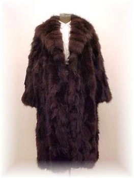 """Plus Size"" Brown Fox Fur Coat"