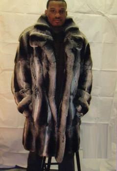 Mens 3/4 Fur Chinchilla Coat