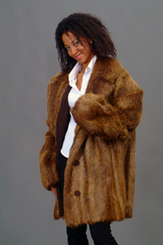 Vintage Fur Nutria Coat Unisex