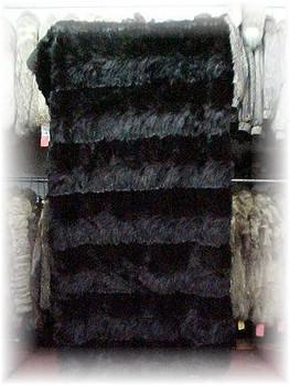 Dyed Sable Design Fur Blanket