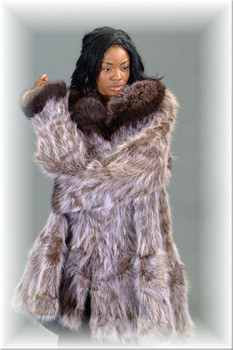Raccoon Fur 3/4 Jacket - Sectional