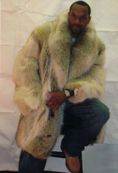 Mens Fur Coytote Full Pelt 3/4 Coat