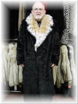 Mink Fur Coat with Lynx Fur Collar