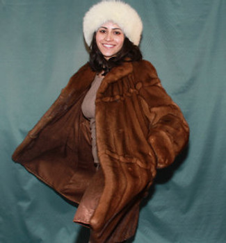 Full Skin Mink Design Coat