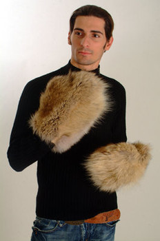 Coyote Fur Mittems Men's