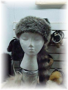Children's Faux Daniel Boone Hat with Raccoon Tail