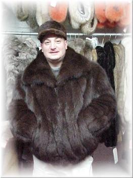 Full Skin Fox Bomber Fur Jacket