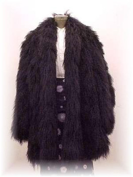 Black Curly Lamb Fur Jacket