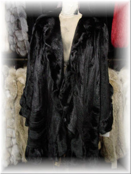 3/4 Mink Fur Coat with Mink Fur Collar