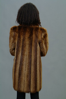 Vintage Beaver Fur Woman's 3/4 Jacket