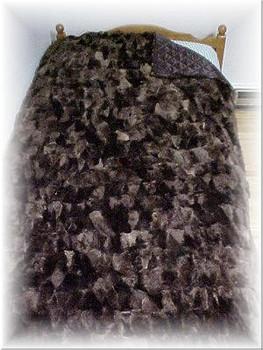 Multicolored Sheared Beaver Fur Blanket