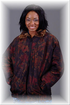 Reversible Beaver Bomber Fur Jacket - Asti Print