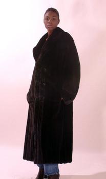 Black Full Pelt Mink Fur Coat
