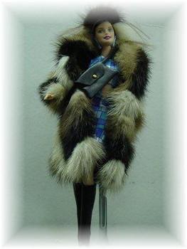 Doll's Multicolor Mink Fur Coat