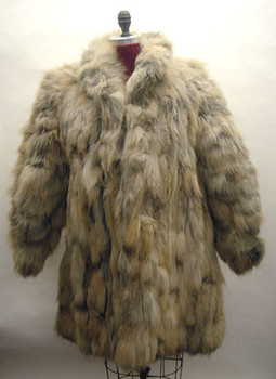 3/4 Fox Fur Jacket Design with Flare Style
