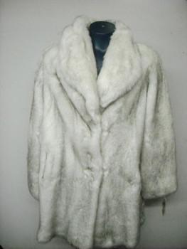 Natural Blue Fox 3/4 Faux Fur Jacket