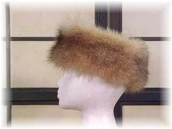Crystal Fox Full Skin Fur Head Wrap 1