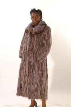 Raccoon Fur Design Coat
