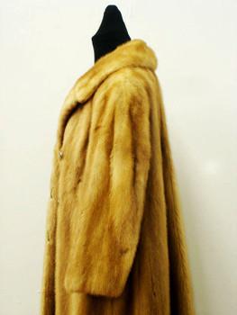 Vintage Mink Fur Full Skin Coat Woman