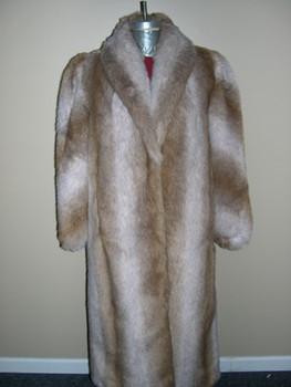 Faux Crystal Fox Long Coat