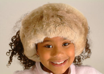 Kids chinchilla Fur Head Wrap