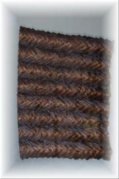 Brown Mink Fur Tail Plate