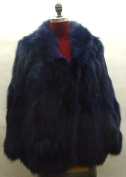 3/4 Blue Fox Design Fur Jacket