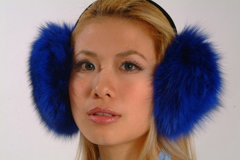 Blue Fox Earmuffs
