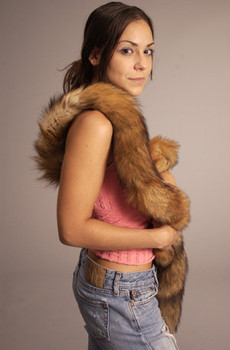Natural Red Fox Tail Fur Scarf