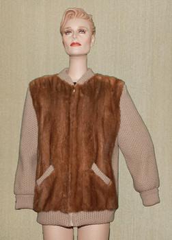 Vintage Fur Mink Sweater Jacket Full Pelt
