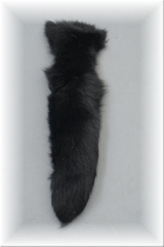 Black Fox Fur Tail