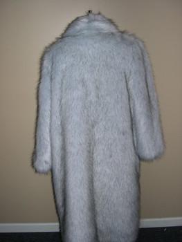 Faux Blue Fox Long Coat