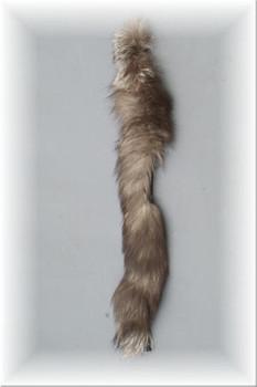 Indigo Fox Fur Strip Tails