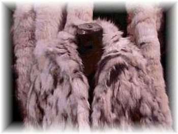 Blue Fox Sectional Fur Jacket