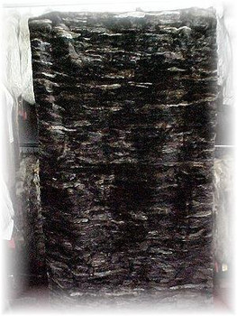 Dark Sheared Beaver Fur Blanket