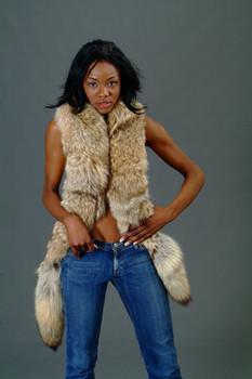 Coyotte Fox Fur Scarf