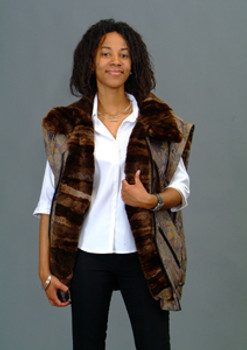 Vintage Fur Beaver Jacket in 3 Way