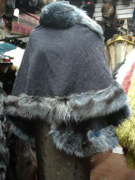 Dyed Fur Raccoon Cape