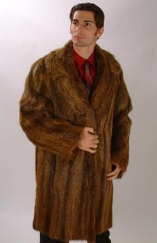 Vintage Full Pelt Nutria Fur Coat
