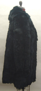 Black Fox 3/4 Fur Jacket with Flare Style