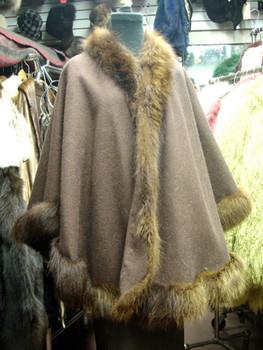 Dyed Raccoon Fur Cape