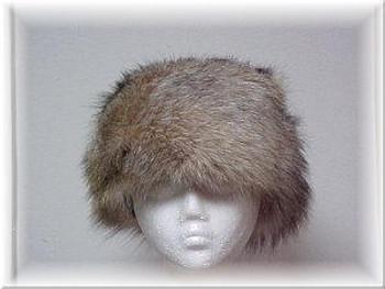Full Skin Crystal Fox Fur Hat