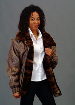 Vintage Fur Beaver Multicolor Jacket