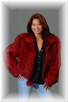 Burgundy Lynx Fur Jacket