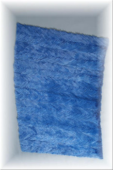 Dyed Blue Mink Fur Plate Made From Tails