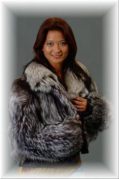 Beautiful Silver Fox Bolero Jacket