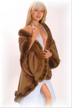 Sable Cape with Sable Fur Trim