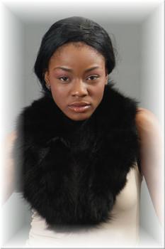 Black Fox Fur Design Fur Collar